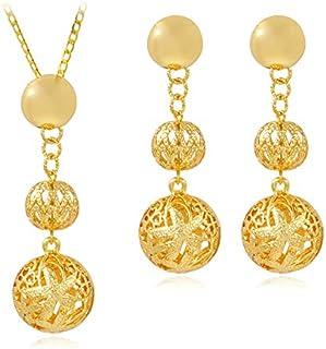 Beydodo Wedding Earrings Studs Wedding Earring for Brides Horseshoe Round Rose Gold Cubic Zirconia