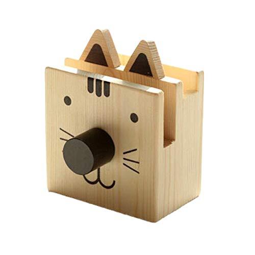 [クイーンビー] ペンスタンド 木製 アニマル かわいい メガネ スタンド ペン 立て 卓上 収納 ケース インテリア オフィス 机 デスク アクセサリー 文具 文房具 鉛筆 事務用品 プレゼント (猫)