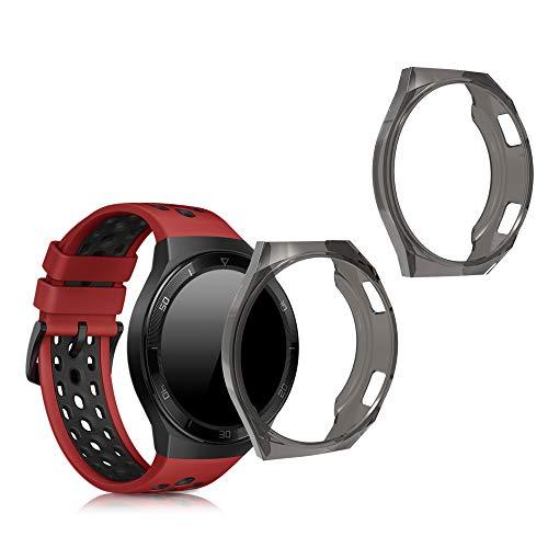 kwmobile Case Protettiva per Fitness Tracker Compatibile con Huawei Watch GT 2e - Semitrasparente Protezione Sportiva Cardio Orologio Smart
