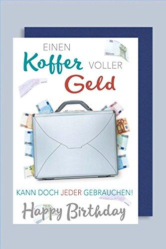 Geldkarte Karte Geburtstag Gutschein Geschenke Koffer Geld 16x11cm