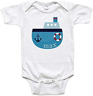 Personalized Baby Bodysuit or Toddler Shirt - Baby Gift - Boat Ship Nautical