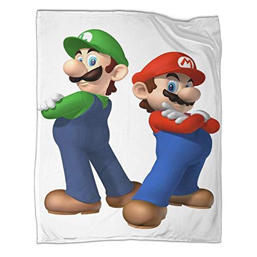 All Seasons Manta cálida para siesta Super Mario Bros espalda a espalda, fácil cuidado para todas las estaciones, 130 x 180 cm