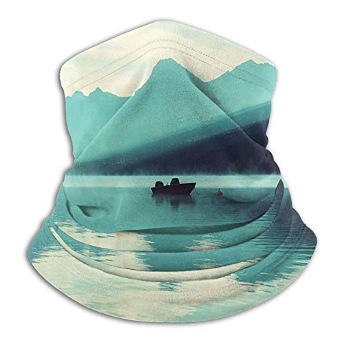 haoking Funda para cuello de barco en el lago con cubierta para la cara, polaina, bufanda reutilizable para hombres y mujeres, múltiples formas de vestir