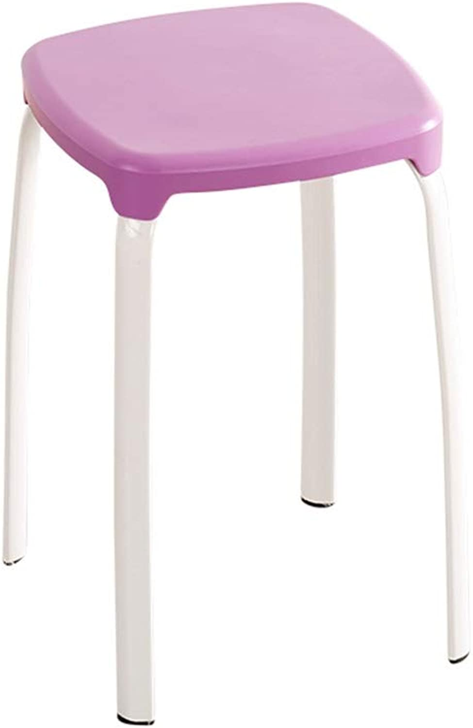 Dining Stool, Shop Stool Supermarket Stool Rest Stool Stackable Plastic Stool Sturdy Non-Slip High Stool Home Stool (color   F)