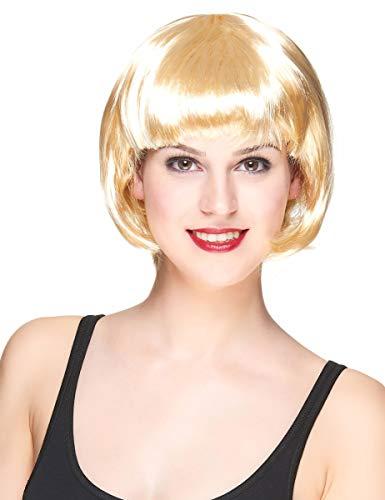 DEGUISE TOI - Perruque Courte Blonde Femme - Taille Unique
