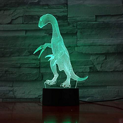 YWAWJ Nachtlicht Dinosaurier 3D Illusion Lampe Kinder Teenager Bunte mit Fernnacht dekorative Lampe Tag for Kinder Schlafzimmer-Dekor Nacht Nacht