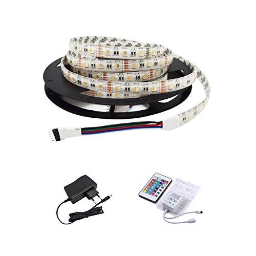 IMMEGE wasserdichter 1M RGB 5050 SMD LED Streifen Strip Band Leiste, 60LEDs pro Meter, Schutzklasse:IP65, inkl