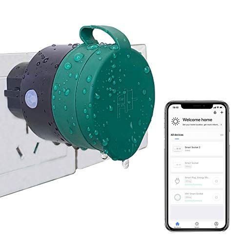 UCOMEN Outdoor Sockets WLAN Smart Steckdose WiFi Stecker Smart Plug Funktioniert mit Amazon Alexa und Google Home - 2er Pack