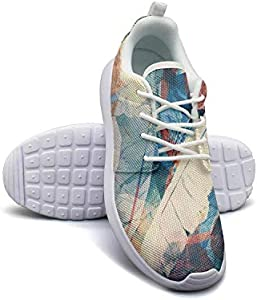 LOKIJM Boho Swirls of Marble Casual Sneakers for Women Fashion Comfortable and Lightweight Running Shoes for Girls