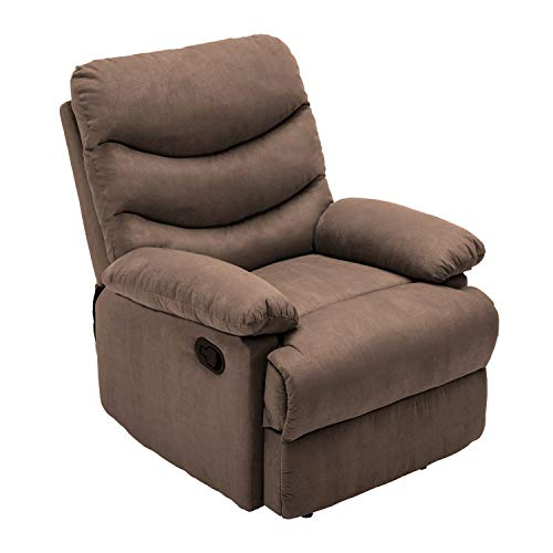 HEYNEMO Recliner Chair, Modern Recliner Chair for Living Room, Manual Adjustable Recliner Chair Recliner Sofa for Living Room Bedroom Office, High Back Comfortable Single Chair Recliner Chair Coffee