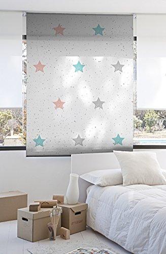 Estor Enrollable Digital Infantil Estrellas Ancho 110 x 175 Alto