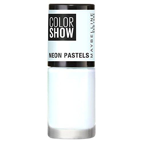 Gel de uñas ColorShow de Maybelline, neón pastel 480,azul eléctrico