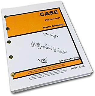 Case 880 Crawler Track Excavator Parts Manual Catalog Exploded Views Assembly