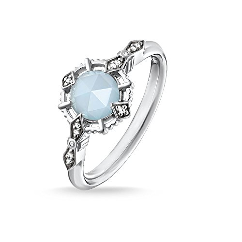 Thomas Sabo Women Ring Vintage Light Blue 925 Sterling Silver, Blackened D_TR0043-902-31