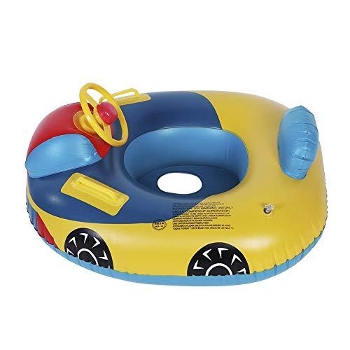 Crisis Baby-Schwimmschwimmer, aufblasbarer Sicherheits-Babyschwimmerkreis, Auto-Form Bequemes Schwimmschwimmer-Sitzboot mit Lenkrad, Pool-Schwimmring für Baby-Kleinkinder