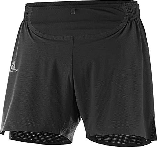 SALOMON Sense Pro Short Pantalón Corto, Hombre, Black/Black, XL