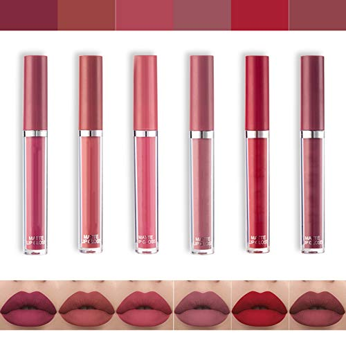 16 colores impermeable mate brillo de labios pintalabios maquillaje líquido Pintalabios belleza brillo de labios, terciopelo mate impermeable lipstick lip gloss