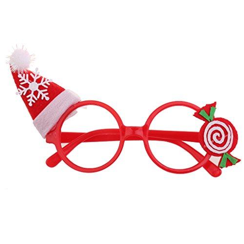 Hellery Weihnachten Hut Party Brille Brillen Kostüm Kinder Party Fancy Dress - Weihnachtsmützen Candy