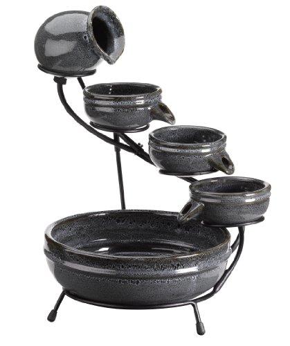 Altuna/bikain 1180230RL ALTUNA 1180230RL-Cascada de Ceramica Negro afrodita
