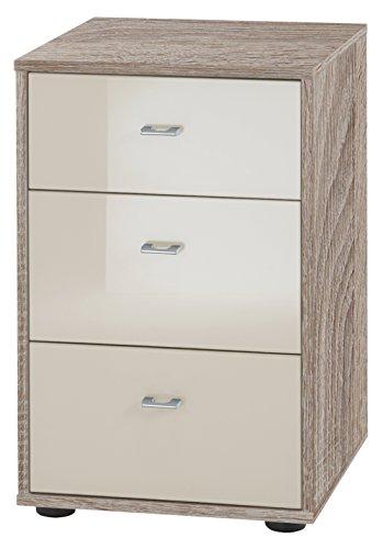 Wiemann 597807 Tokio Nachttisch, Holz, trüffeleiche-nachbildung, 43 x 40 x 64 cm, montiert
