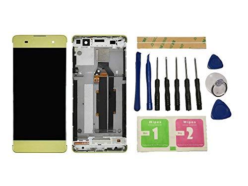 Flügel para Sony Xperia XA F3111 F3113 F3115 Pantalla LCD Pantalla Oro Táctil digitalizador Completo Pantalla (con Marco) de Recambio & Herramientas
