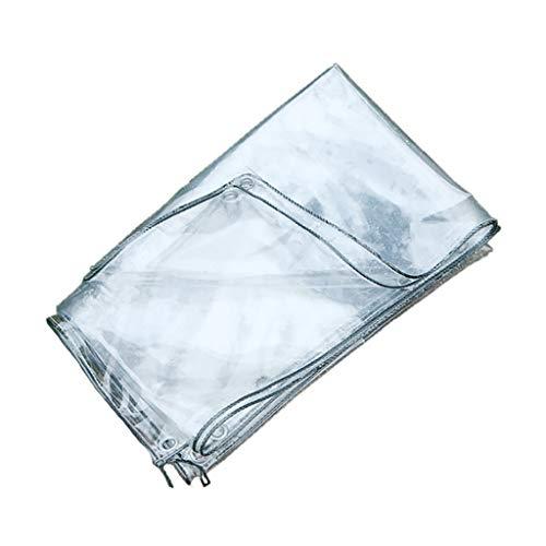 Transparente lona cubierta impermeable, a prueba de polvo resistente, a prueba de lluvia y lona impermeable al aceite, apto for antienvejecimiento lona de PVC for acampar y jardinería ( Size : 2*4m )