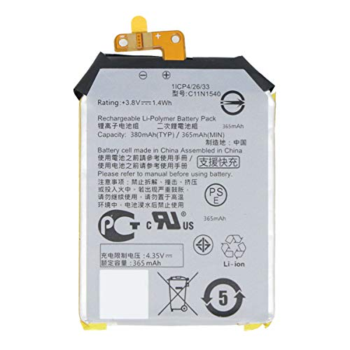 YNYNEW Replacement C11N1540 Battery for Asus ZenWatch 2 WI501QF