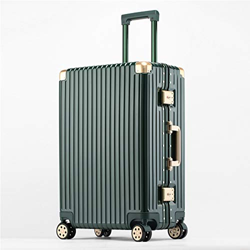 Hand Luggage, Retractable Luggage, Rotatable 360° Wheels, Tsa Security Lock, Suitable For Business Travel And Other Checked Luggage, 20 Inches, Green.