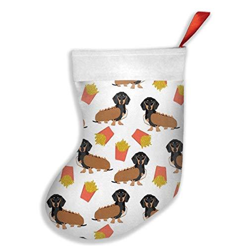 Dachshund - Calcetines para perros calientes y patatas fritas