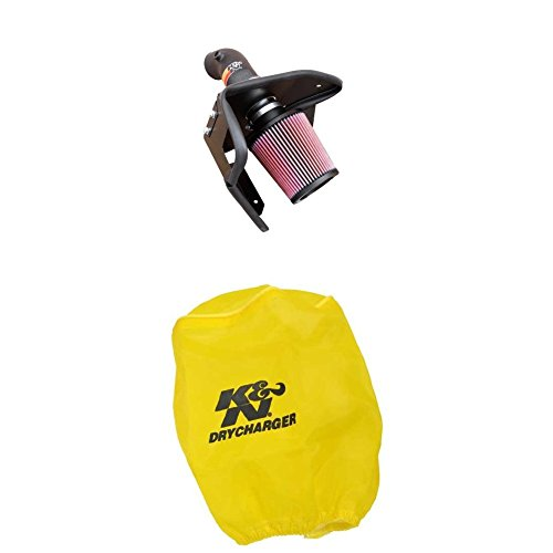 K&N 57-1002 Performance Air Intake System with Yellow Air Filter Wrap