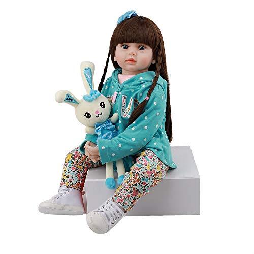 UCanaan Reborn Baby Dolls 24 Inch Lifelike Baby Reborn Toddler Soft Body Toy with Gift Set