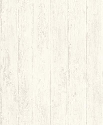 Rasch Tapeten Vliestapete (natürlich) Weiß 10,05 m x 0,53 m Tapetenwechsel 809206 Tapete, 10.05 0.53 m