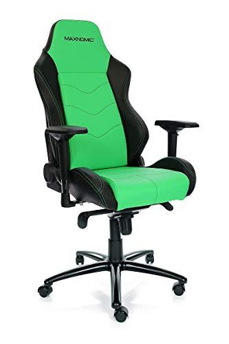 MAXNOMIC Dominator Premium Gaming Bürostuhl & Esports, Metall Farbe Grün