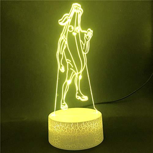 3D Illusion Lampe Led Nachtlicht Basis Bananen Im Pyjama Usb Für Babt Geschenk Für Dekoration Basis Touch Sensor Die Besten Weihnachtsgeschenke Für Kinder