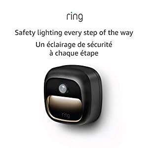 Ring Smart Lighting – Steplight, Battery-Powered, Outdoor Motion-Sensor Security Light, Black (Ring Bridge required)