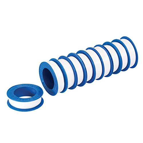 Silverline 250475 PTFE-Band, weiß, 10er-Pckg. 12 mm x 12 m