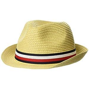(トミーヒルフィガー) TOMMY HILFIGER ストローハット AM05760 FREE ブルー キャップ メンズキャップ 帽子 ハット cap ぼうし スポーツ ロゴ