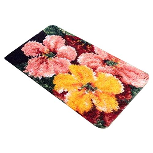 SM SunniMix Kit De Gancho De Pestillo Con Estampado Floral Cojín De Alfombra Kits De Bordado Manualidades Hechas A Mano - ZD1009, tal como se describe