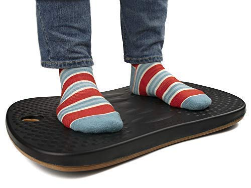 Premium Wooden Balance Board for Standing Desks and Kitchen, Great Alternative to Anti-Fatigue Mat, Wobble Board for Adults & Kids to Improve Posture & Stamina, Easy Desk Exercise with Rocker Motion