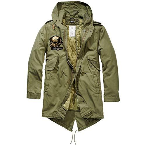 Spaß kostet Männer und Herren Parka lang Winter Jacke mit heraustrennbaren Futter JÄGER Waidmannsheil Größe S bis 5XL