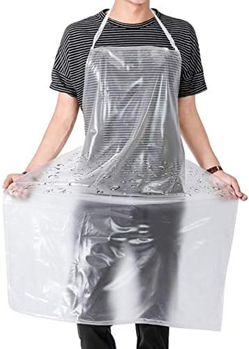 Waterproof Plastic Apron Transparent PVC Keeps You Clean and Dry When Dishes Washing Kitchen product image