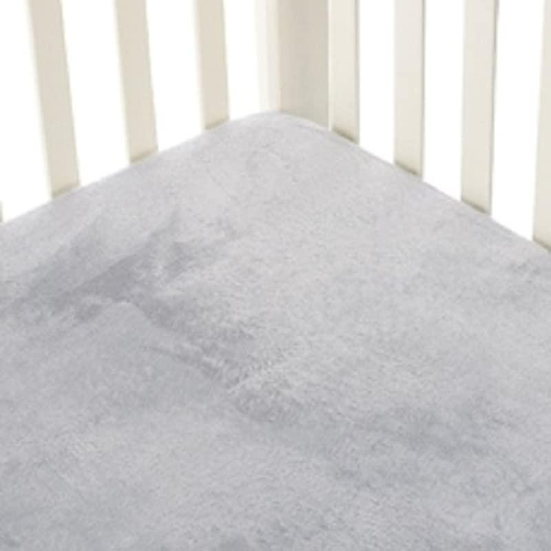 Go Mama Go Designs Grey Minky Crib Sheet Grey