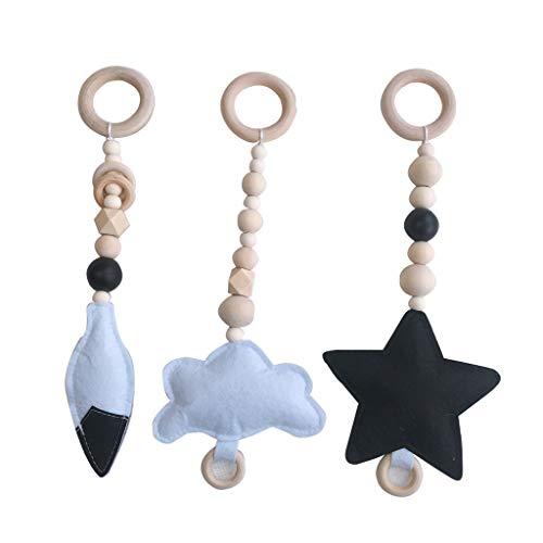 Juguete colgante Youliy, estilo nórdico, juguete de gimnasio para bebé, sensorial cuarto de niños, ropa para niños pequeños, marco de madera, decoración 4