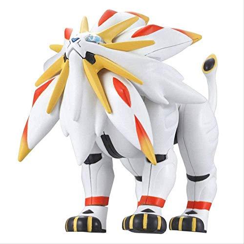 KIJIGHG Figura de accion Pokemon ensamblada Solgaleo Pocket Monster Evolution Series Anime Figura Modelo de Personaje de Anime