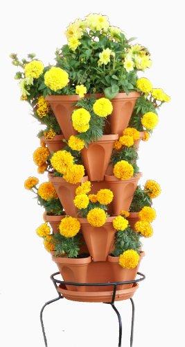 Mr. Stacky 5-Tier Strawberry Planter Pot, 5 Pots