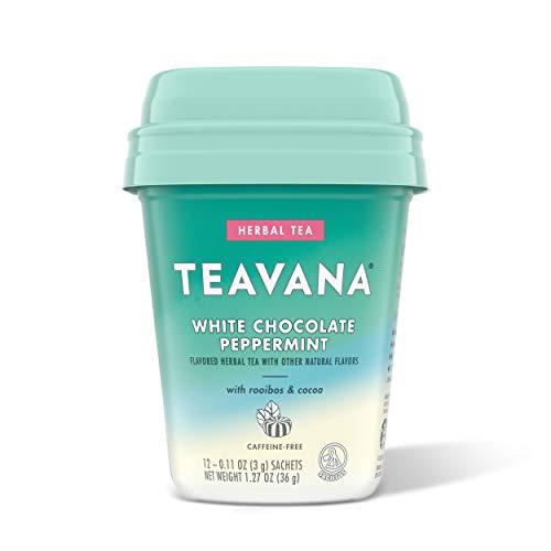 Teavana Caffeine Free Herbal Tea — White Chocolate Peppermint with roobois cocoa — box 12 sachets total, 15.24 Ounce