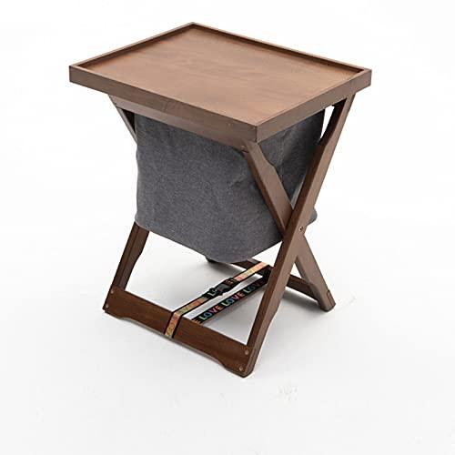 Mesa de camping plegable con bolsa de almacenamiento extraíble, mesa auxiliar portátil para interiores al aire libre