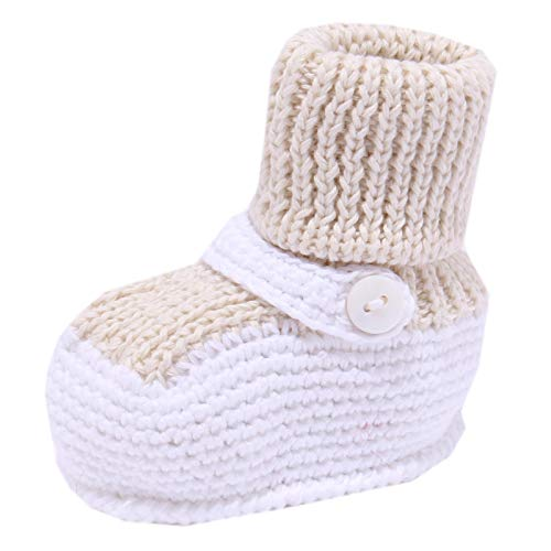 LITTLE BEAR 4108Y Scarpine Lana Wool Newborn Shoe Girl [One Size]