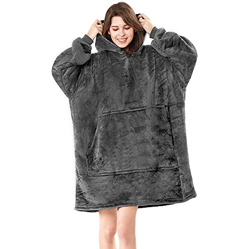 Blanket Sweatshirt Blanket Hoodie Wearable Blanket , Super Warm Women and Men, Oversized Hoodie...