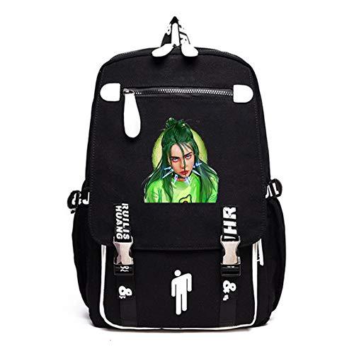 DUYUJIE Hip-hop Singer Billie Eilish Backpack Leisure Travel Is The Best Choice for The Beginning Of The School Season
